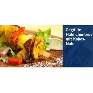 Gegrillte Hähnchenbrust mit Kokos-Note