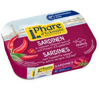 Sardinen mit Olivenöl und Piment d´Espelette