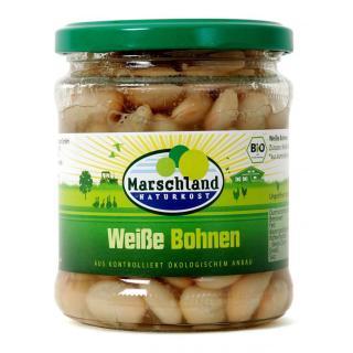Bio-Weiße Bohnen 370 ml Gl. MARSCHLAND