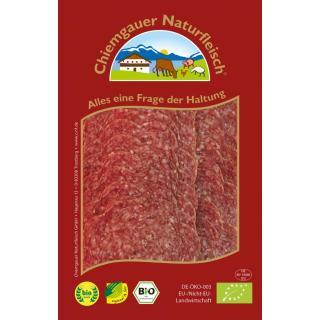 Lammsalami geschnitten, mit Rindfleisch