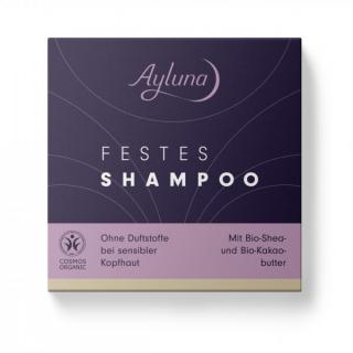 Festes Shampoo ohne Duftstoffe bei sensibler Kopfhaut