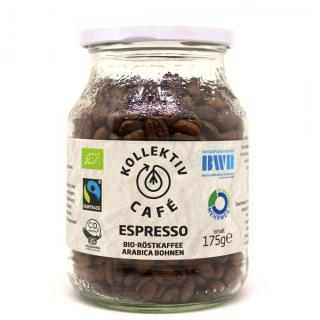 Espresso ganze Bohnen im Glas