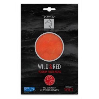 Youkon Wild & Red Wildlachs 75 g MSC zertifiziert, kalt geräuchert